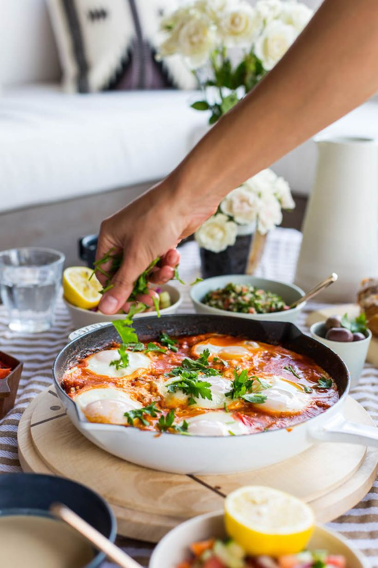 One of the highlights is Shakshuka, a middle-eastern dish that's made by poaching eggs in a flavorful tomato sauce.#recipe