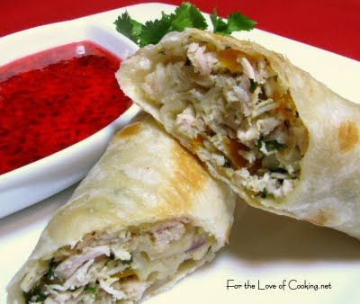 I use mint and red peppers in this. For the Love of Cooking » Chicken Flautas with Jalapeno Jelly