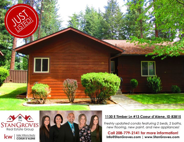 Sold 1130 E Timber Ln 13 Coeur D Alene Id 83815 Freshly Updated Condo With A 1 Car Detached Garage Hoa Fee Covers New Condo Coeur D Alene Lawn Maintenance
