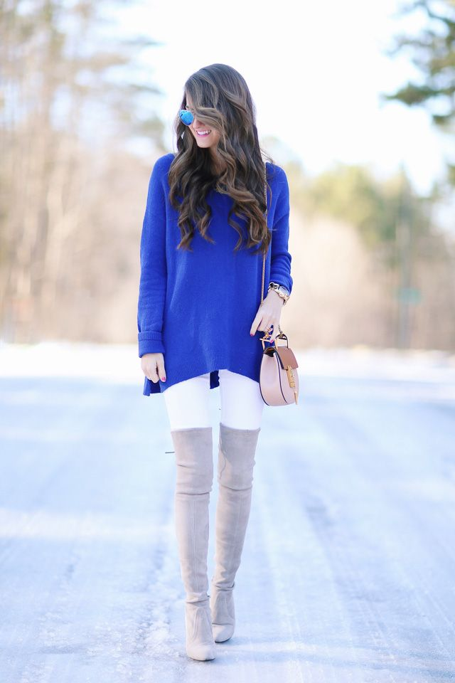 bright winter outfit