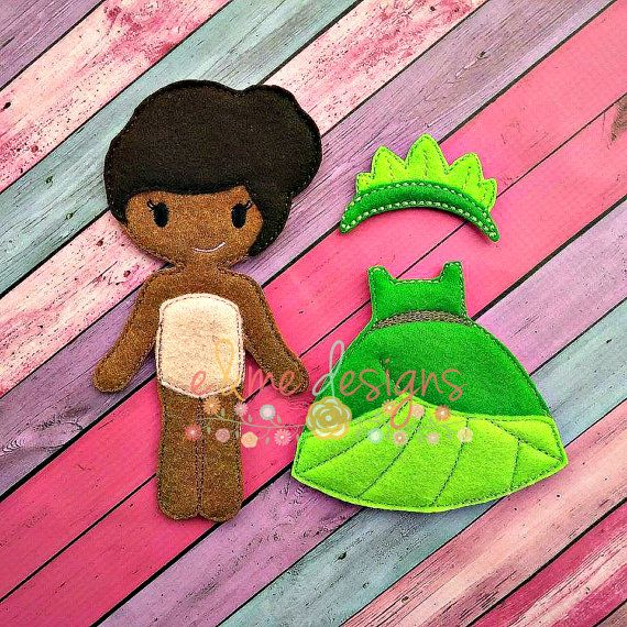Tia Felt Doll Outfit Embroidery Design OUTFIT by EandMeDesigns