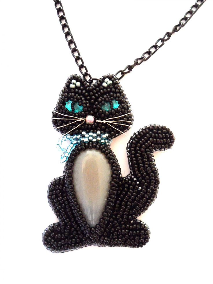 Мой маленький зоосад (кошка, лошадки и сова) | biser.info - всё о бисере и бисерном творчестве