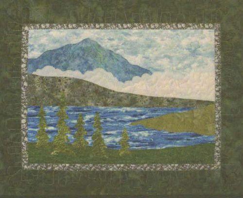 Alpine Lake - Bella Vista Landscape Vignettes by Helene Knott - Applique Pattern -