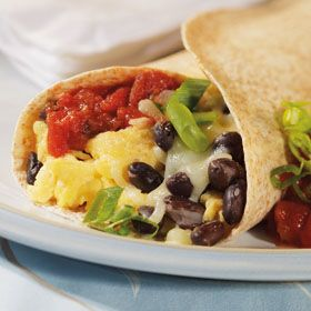 Southwestern Breakfast Wraps, a recipe from ATCO Blue Flame Kitchen's Holiday Collection 2012 cookbook.