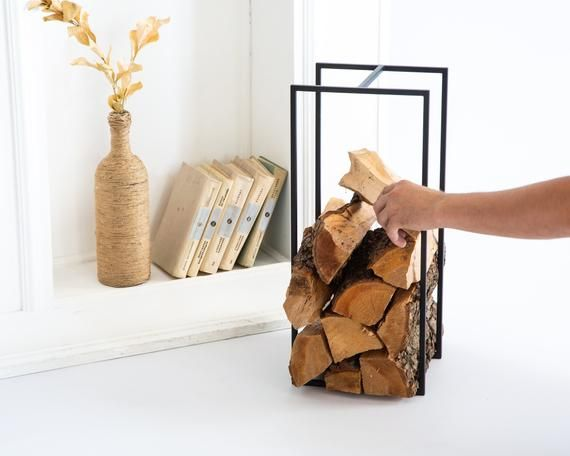 Log Holder Small With A Handle Firewood Carrier Storage Etsy In 2020 Firewood Carrier Log Holder Firewood