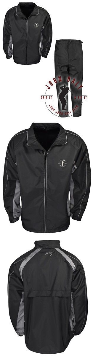 Other Mens Golf Clothing 181141: New John Daly Golf- Waterproof Rain Suit Black Black Extra Large -> BUY IT NOW ONLY: $49.98 on eBay!