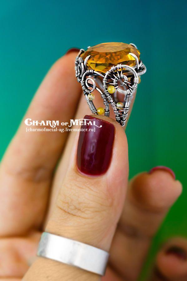 """Купить """"Elenwe"""" Серебряное кольцо - украшение, подарок девушке, подарок женщине, серебро, wire, wrap"""