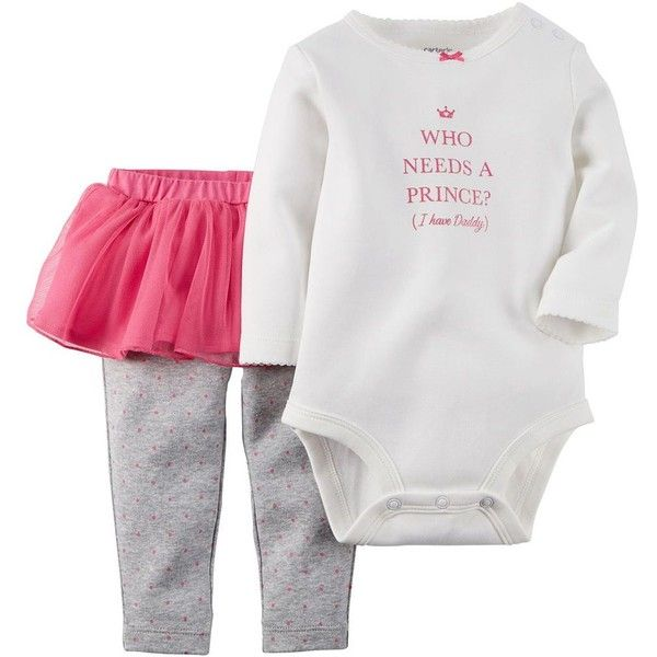 Baby Girl Carter's Bodysuit Tutu Pants Set ❤ liked on Polyvore featuring baby
