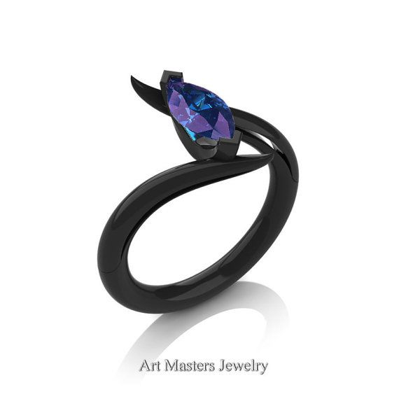 Savage 14K Black Gold 1.0 Carat Marquise Alexandrite by artmasters
