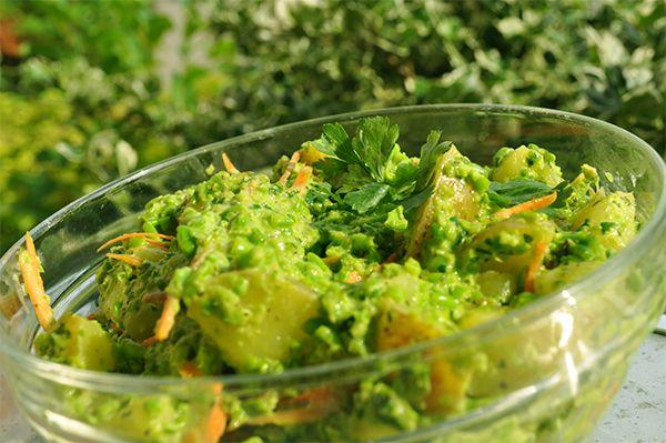 Grøn kartoffelsalat på sidste sommerdag.