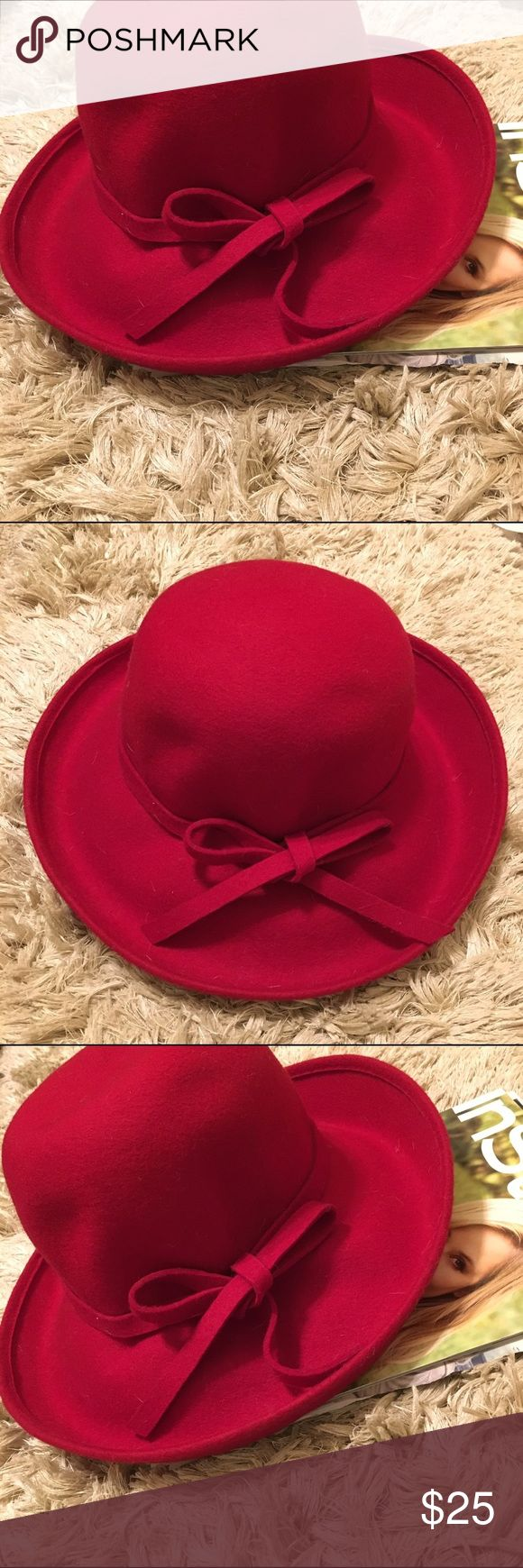 the only floppy red hat you'll ever need Color: Red Size: OSFA Material: 100% Wool Brand: Vintage - SS ADORABLE with dresses, pants, skirts, overalls, swimsuits, you name it! Oversized and fabulous. Accessories Hats