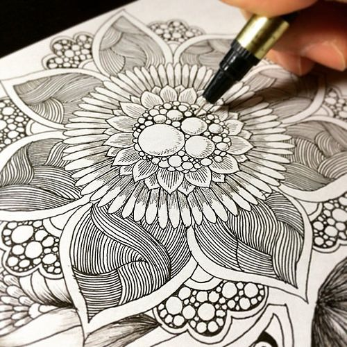 how to draw zentangle flowers - Google Search