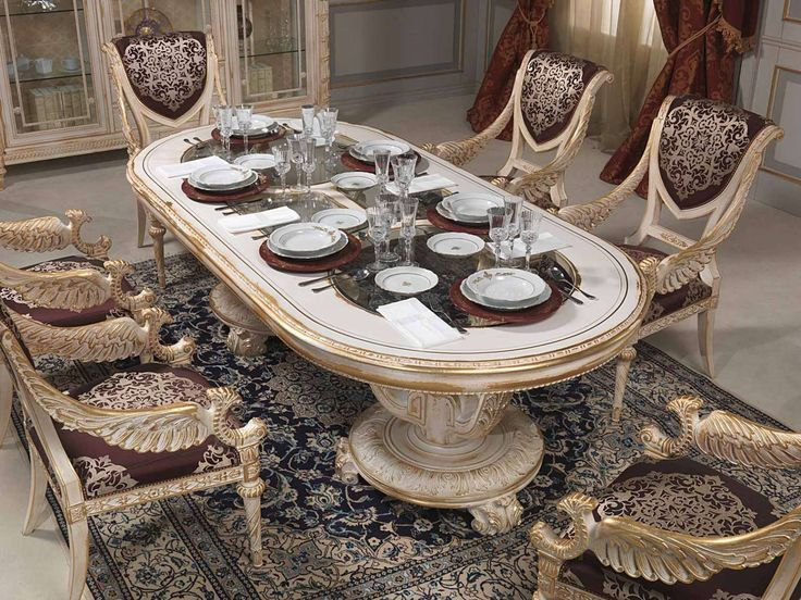 Luxury Classic Dining Room Louis Xvi White And Gold  Vimercati Impressive Classic Dining Rooms 2018