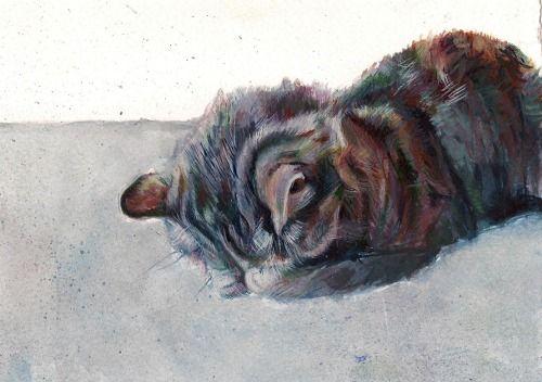 'Niesie' Watercolour on paper 15 x 21cm