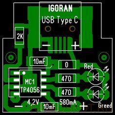 Плата печатная контроллера заряда литиевых аккумуляторов