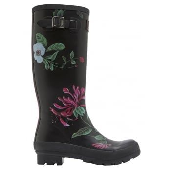 From nautical stripes and detailed florals to scenes that sing of our country heritage. Wherever you're tackling the great British weather Joules new printed wellies will make sure you stand out from the crowd. http://www.marshallshoes.co.uk/womens-c2/joules-womens-wellyprint-tall-printed-black-hedgerow-boot-p4163