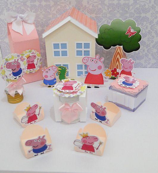 Kit festa com o tema do momento!  Peppa Pig, George e toda a turma vão tornar a sua festa muito mais bonita.  Os itens são vendidos separadamente, conforme a sua necessidade.  Preço sob consulta.