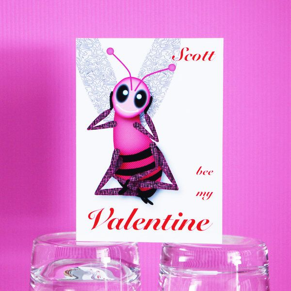 Top 25 ideas about Cards Love Valentines Day – Bee My Valentine Card