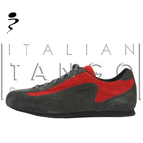 Tango sneakers in grey and red suede, sole in buffalo and special microporous rubber midsole http://www.italiantangoshoes.com/shop/en/schizzo/221-shark-micro.html