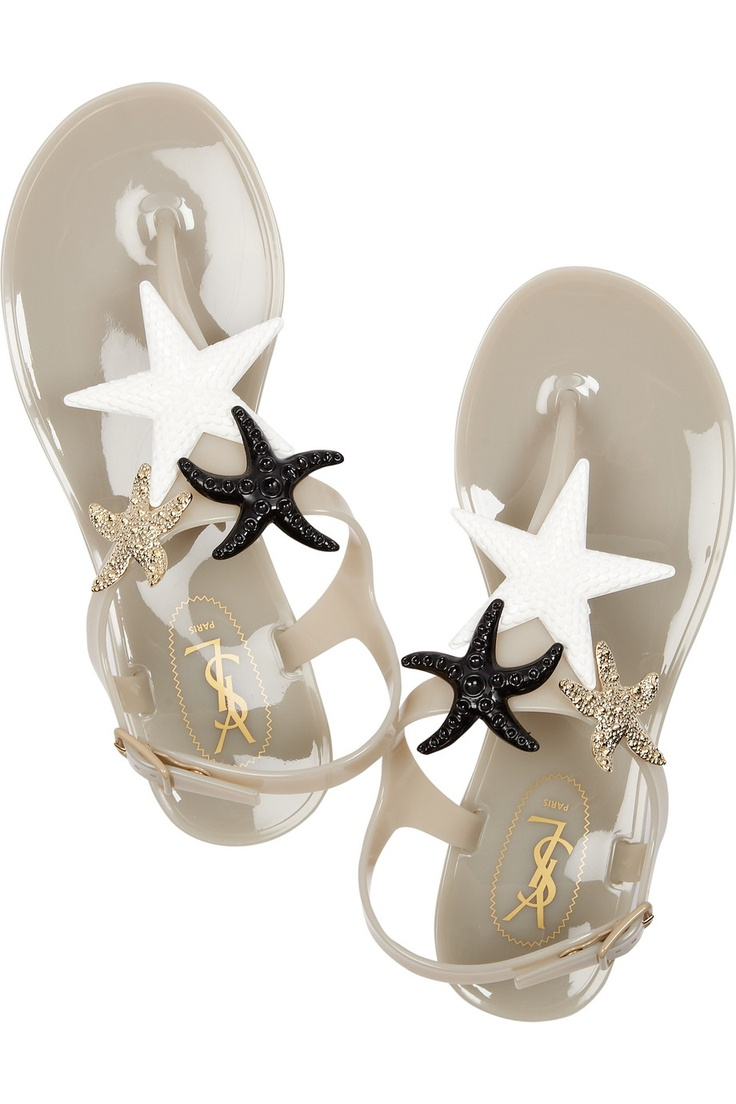 Yves Saint Laurent ~ Starry rubber sandals