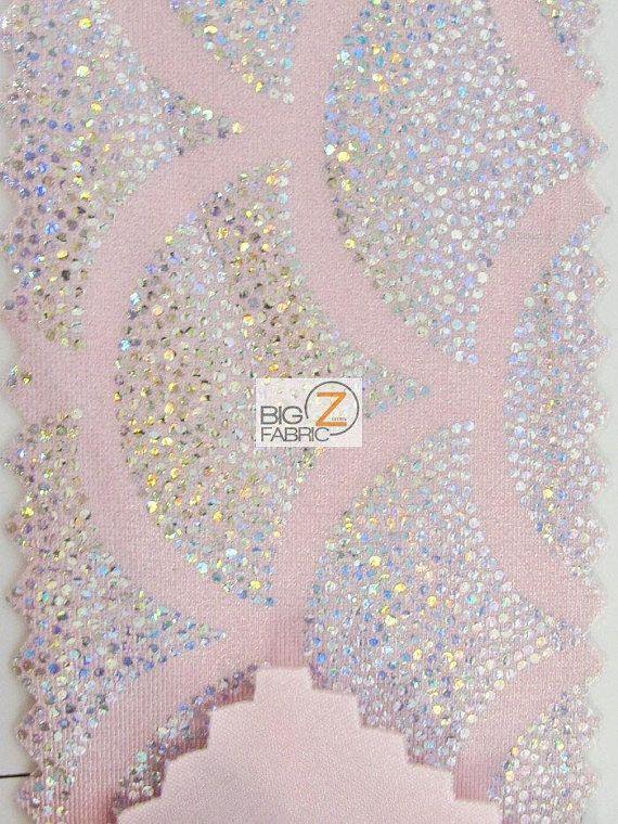 2 Tone Holographic Scale Spandex Fabric ORANGE/GOLD Sold