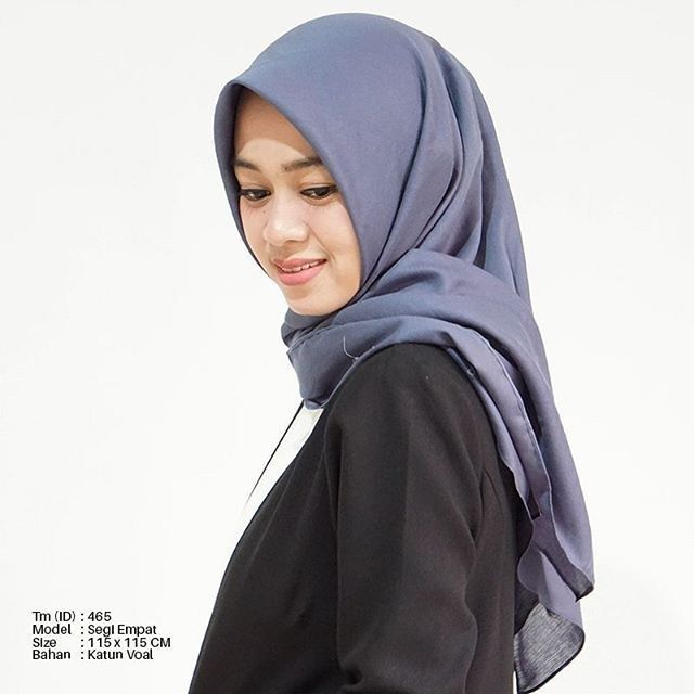 Tutorial Hijab Segi Tiga Bahan Katun Wanita Cantik