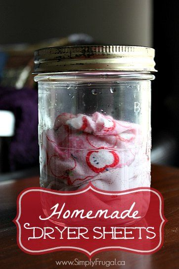 For the longest time I was using plain white vinegar as a fabric softener in the wash, but I started to miss having that fresh smell that store bought fabric softeners provided.  So, I thought I'd try my hand at creating my own homemade dryer sheets! ...