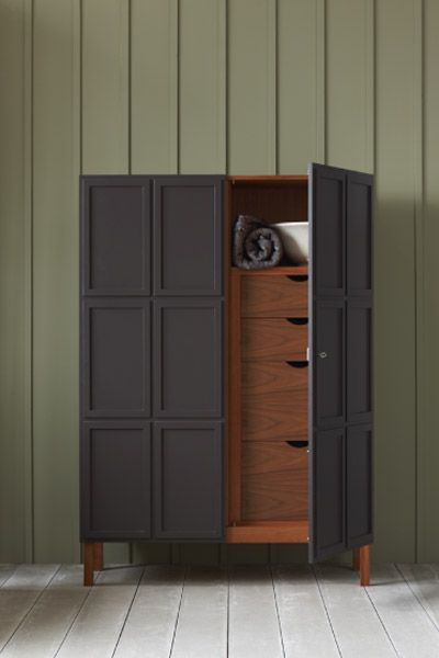 Floor, wall + cabinet color. Frey armoire by Pinch Design - Photo by James Merrell