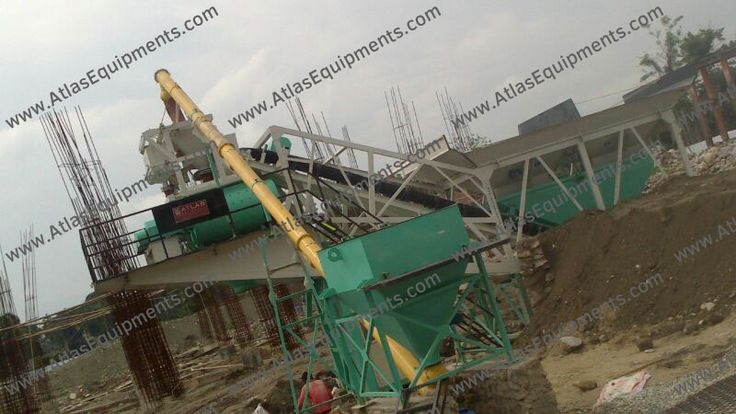 Atlas ready mix concrete plant (RMC plant) installed recently in Bhutan.  #Machinery_sale