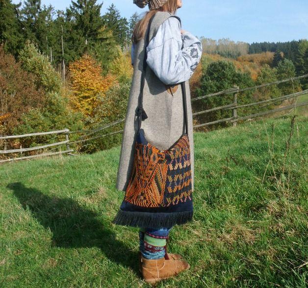 Schultertaschen - Tasche ♥CHAJUL♥ Guatemala indigene Handarbeit - ein Designerstück von santa-fee bei DaWanda