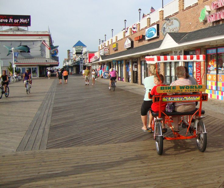 Beach Houses For Rent In Ocean City: Ocean City Maryland Boardwalk Bike World Boardwalk Rentals