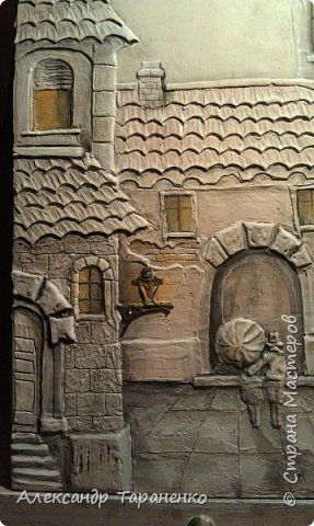 Картина панно рисунок Лепка Картина-барельеф Венеция2 Гипс фото 2