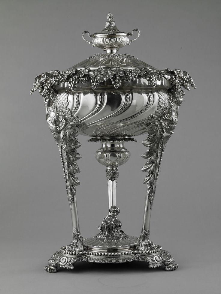 Tiffany & Company (American, est. 1837). Punch bowl, 1893. Sterling silver and metal. Photo by John Faier, © The Richard H. Driehaus Museum.