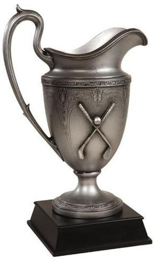 Trophy GOLF Traditional Pitcher Scroll Work Resin New Hand-Cast Hand-Pai OK-1396