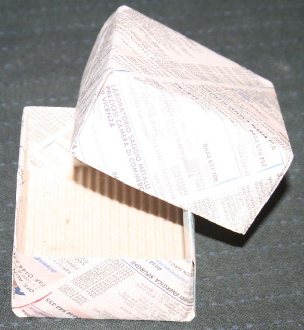 scatola origami con coperchio138
