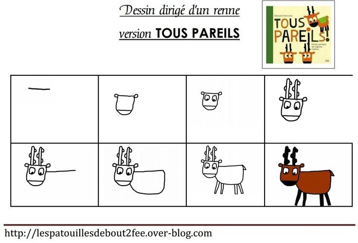 Tous pareils 1 renne dessin renne et dessin - Dessiner un renne ...