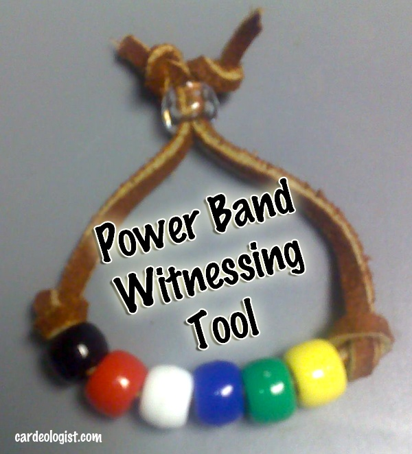 Make your own witnessing tool. A Power Bracelet. each color represents a part of the witnessing tool.