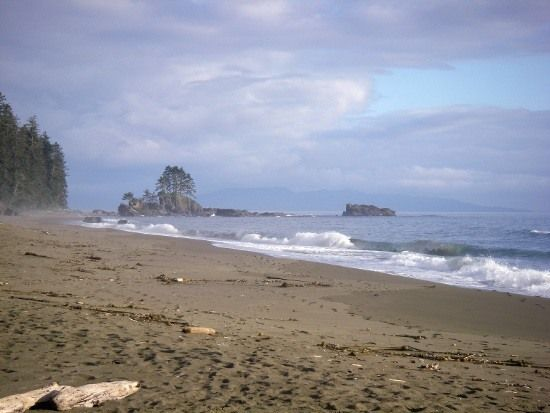 One of the beautiful beaches along the West Coast Trail, Vancouver Island