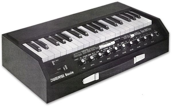 Wersi bass synthesizer synth music nerd goodies for Classic house organ bass