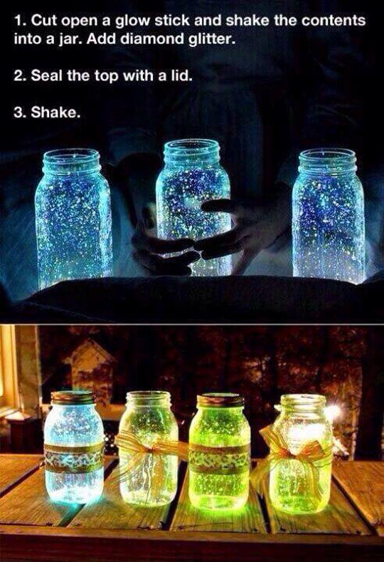 Incredible Glowing Jars #MasonJars
