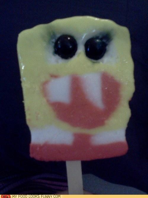 Scary Spongebob ice cream is scary.: Icecream Spongebob, Zombies Icecream
