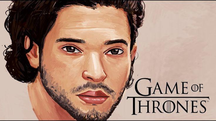 Kit Harington / Jon Snow from Game of Thrones - Digital Painting Timelapse  #art #painting #drawing #illustration #cool #artist #game #of #thrones #got #kit #harington #video #timelapse
