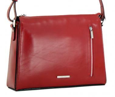 4eca67cc9a4af Claudio Ferrici Crossover Tasche Red rot Leder
