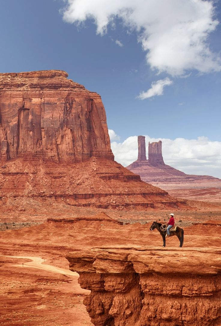 Monument Valley, in a region of the Colorado Plateau near the Utah/Arizona state line
