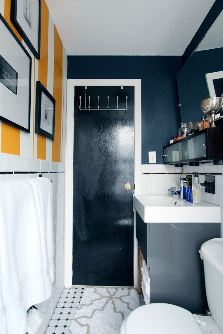 205 best painting your home before after images on pinterest mark s delightful and delicious west village home house tour yellow wall paintsnavy blue