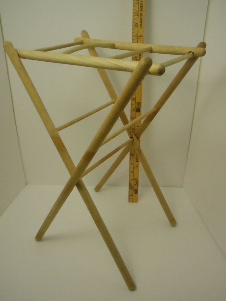 "Mid-Century Miniature Drying Rack for Linens or Dolls 18.5"" x 12"" x 10""  
