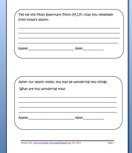 Best Exit Cards Images On   Close Reading Classroom