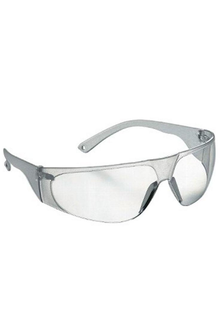 Gafas transparentes con montura de policarbonato y protecciones laterales. Posee oculares con revestimiento antirrayado y antiempañamiento. Con filtros oculares y estructura panorámica envolvente.  #gafas #laboratorio #sanidad #uniforme #sanitario #masuniformes