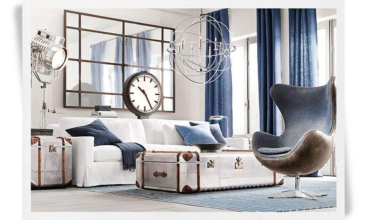 10 best images about restoration hardware living rooms for Restoration hardware living room furniture