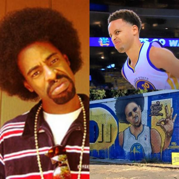 Mac Dre and Steph Curry with the Thizz Face #Thizzin'
